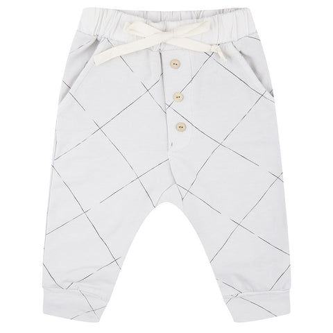 Pants Angled Grid by Little Indians