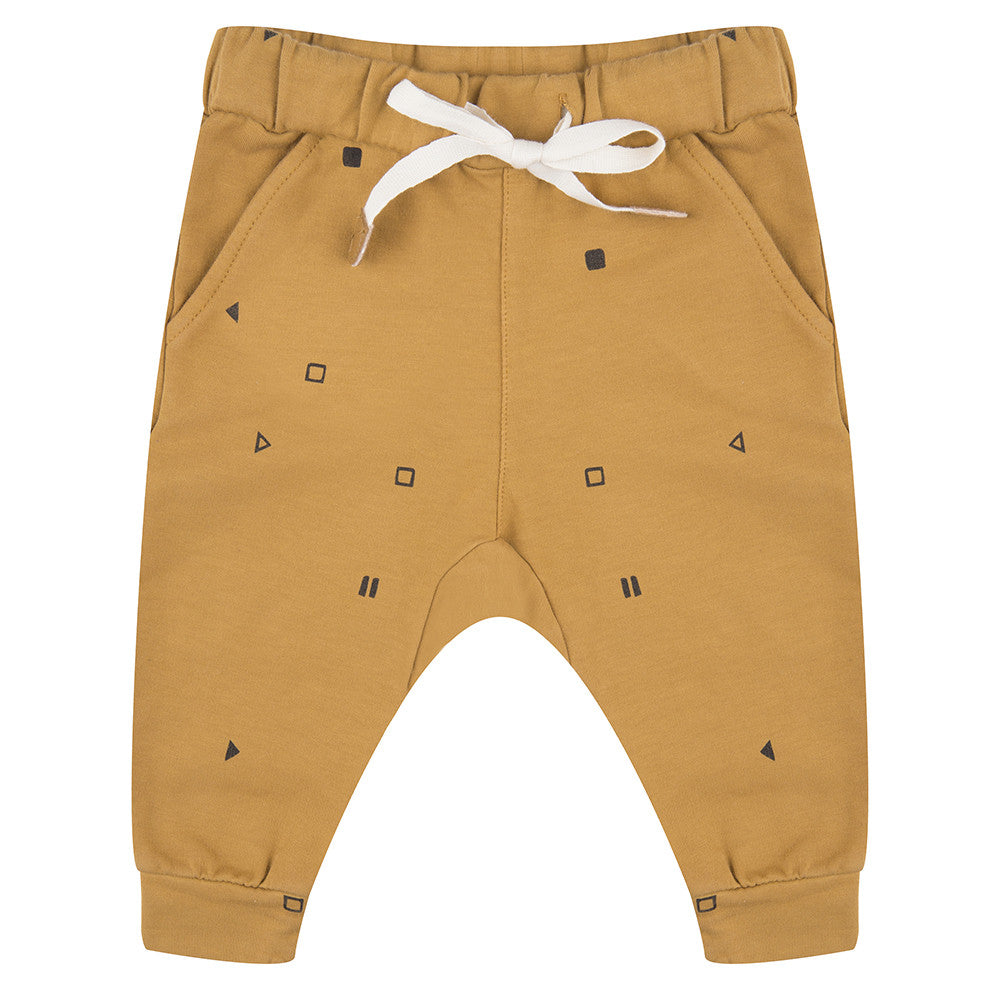 Little Indians - baby pants playstoppause - ochre
