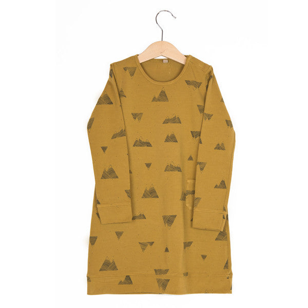 lotiekids: mountains dress in curry color