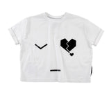 Loud Apparel - Girls oversize tee Mara - white
