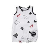 Loud Apparel - baby playsuit More - white