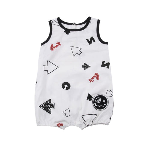 Baby playsuit More by Loud Apparel - white