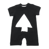 Loud Apparel - baby romper Moon - black