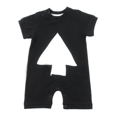 Baby romper Moon by Loud Apparel - black