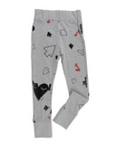 Loud Apparel - girls leggings Megan grey marl