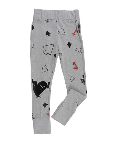 Girls leggings Megan grey marl by Loud Apparel