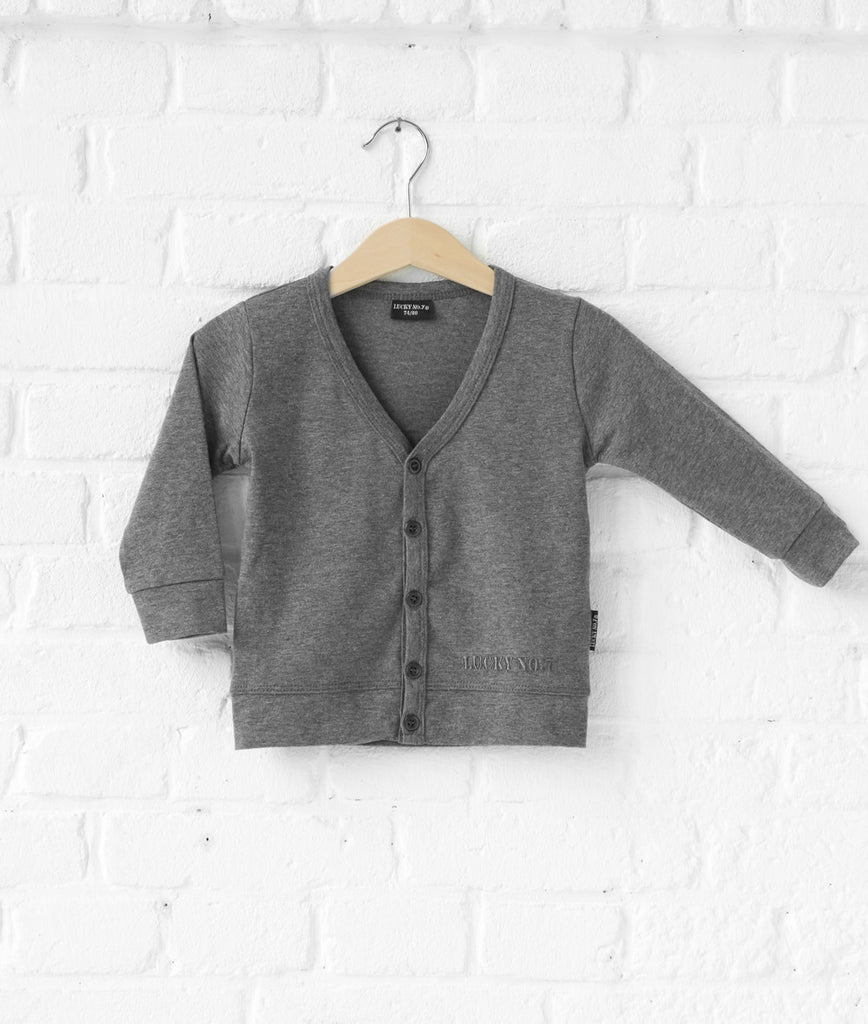 Lucky No 7 - Little grey cardigan