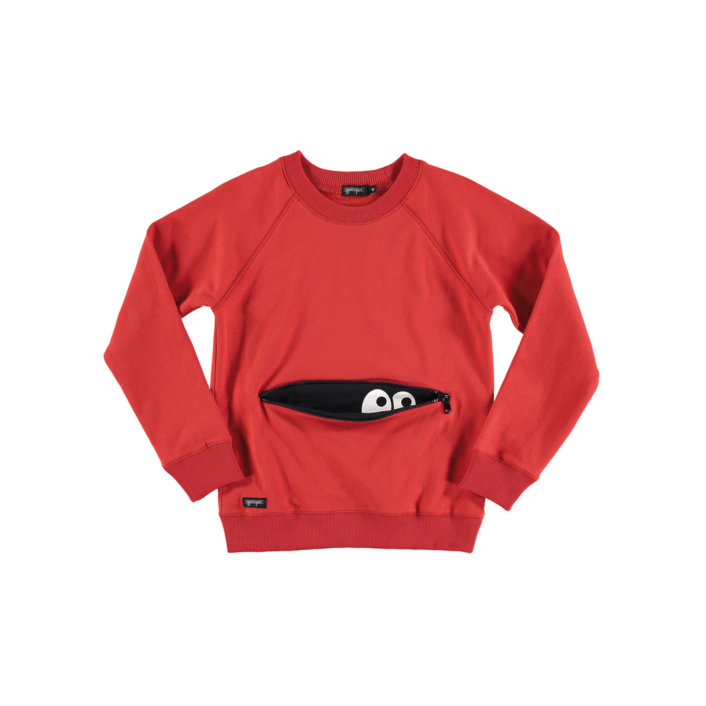 Monster Zipper Sweat red by Yporqué