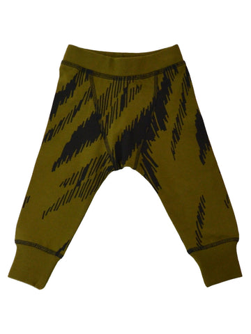 Baby tricot pants Okapi by Mainio Clothing, olive-black