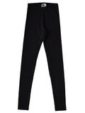 Mainio Clothing - Black basic rib leggings - back