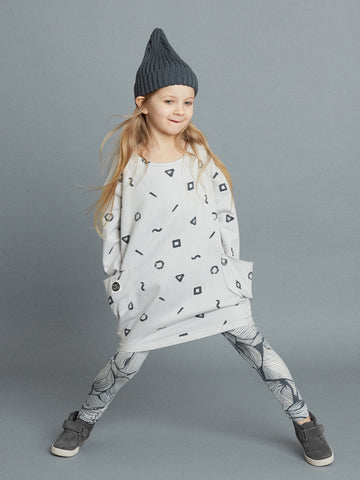 Crayon dress by Mainio Clothing - birch grey
