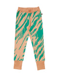 Mainio Clothing - Kids slim fit sweatpants - camel-teal