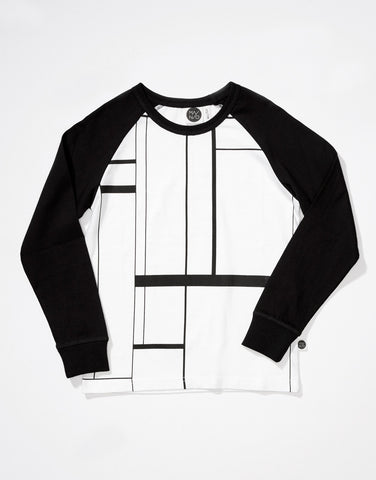 Lines raglan tee by Mainio Clothing