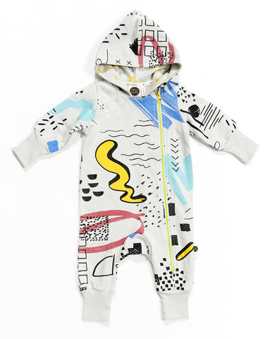 Baby jumpsuit Sketchbook by Mainio Clothing