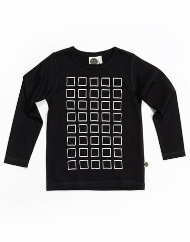 Kids longsleeve tee Frames by Mainio Clothing - black