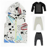 Mainio Clothing - kids sleeveless hoodie Sketchbook - combo