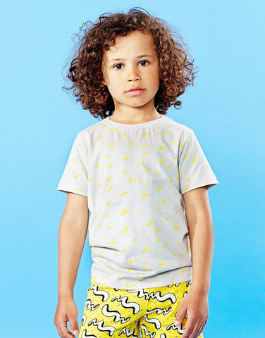 Kids tee Scratch by Mainio Clothing - light grey