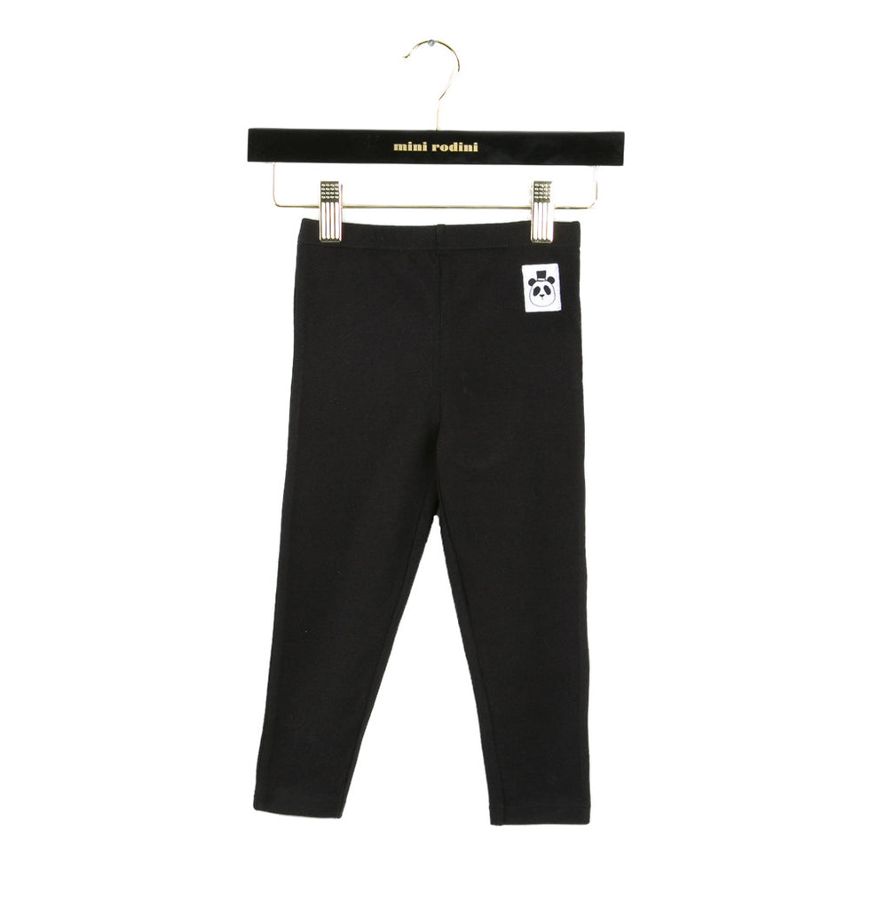 Mini Rodini -  black basic leggings