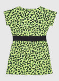 Mini Rodini: Green leopard dress - back