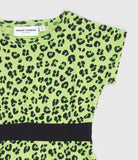Mini Rodini: Green leopard dress - detail