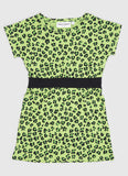 Mini Rodini: Green leopard dress - cool kids clothes