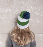 Nadadelazos - Knitted hat stripes - back