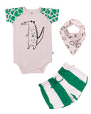Noé & Zoë - Baby shorts Green Stripes XL - outfit