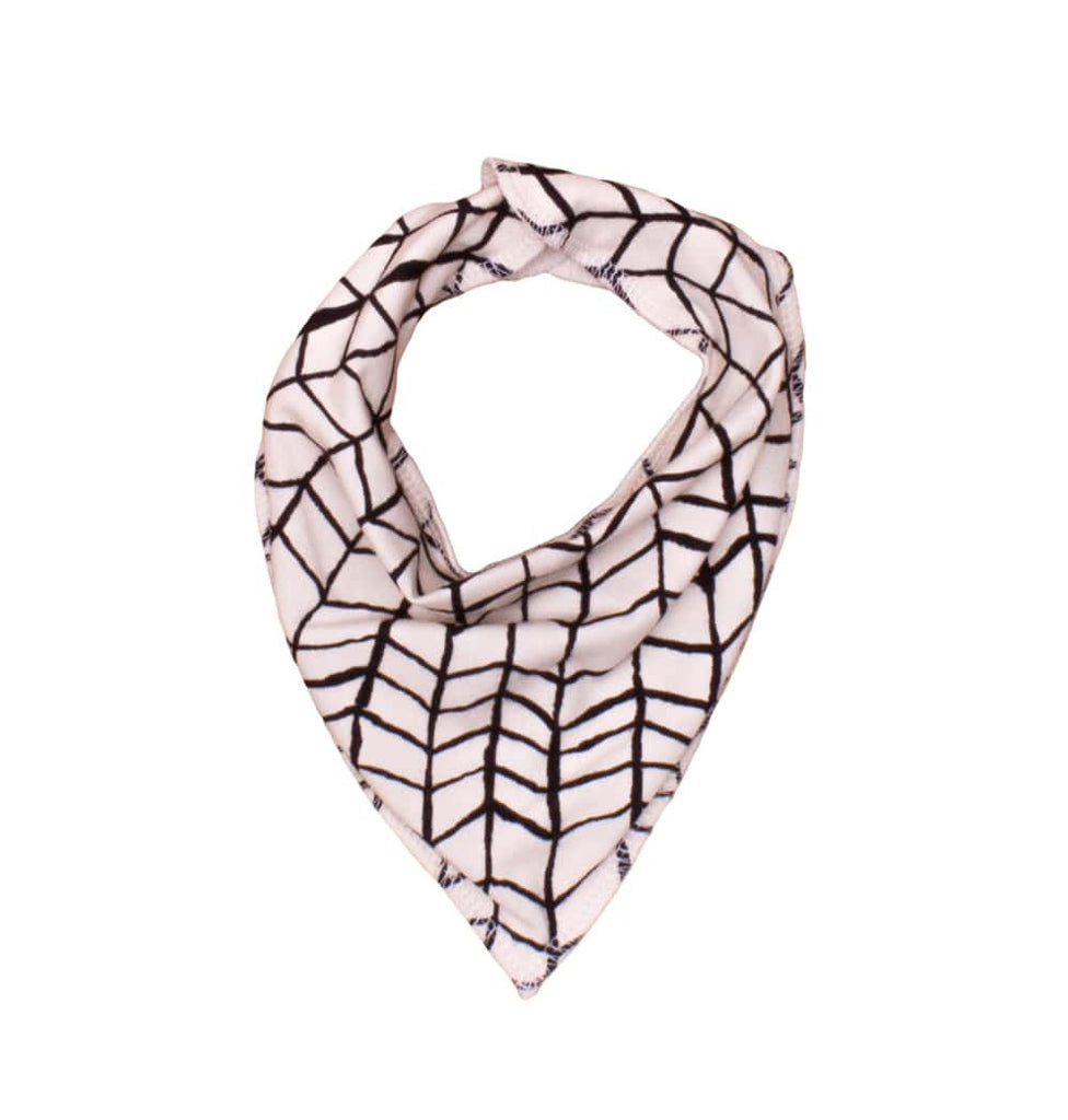 Noé & Zoë - Baby scarf Black wave - white