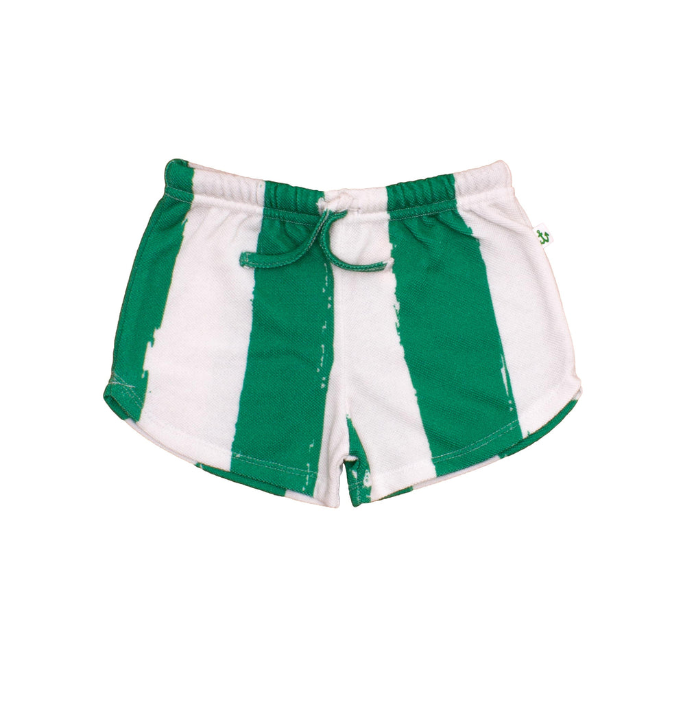 Noé & Zoë - Baby shorts Green Stripes XL