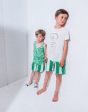 Noé & Zoë - Bermuda shorts Green Stripes XL - lifestyle