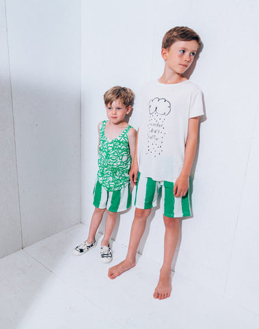 Kids' bermudas Green Stripes XL by Noé & Zoë