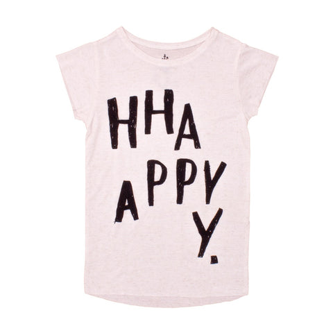 Kids tee Happy by Noé & Zoë - off white
