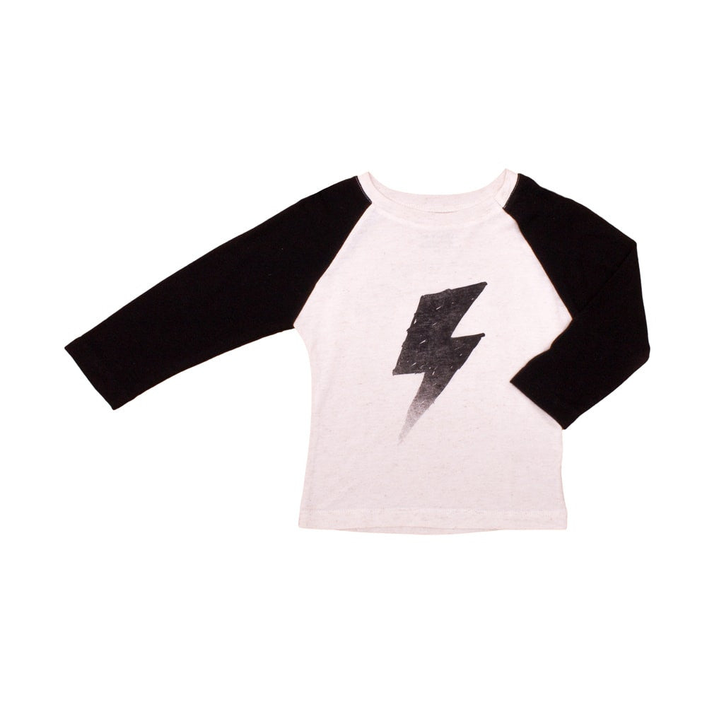 Noé & Zoë - baby raglan tee Black Flash