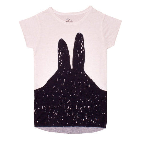 Kids tee Black Bunny by Noé & Zoë - off white