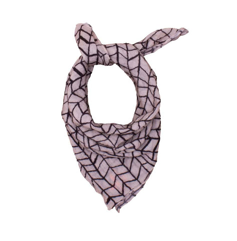 Neckerchief Black Wave Grid by Noé & Zoë