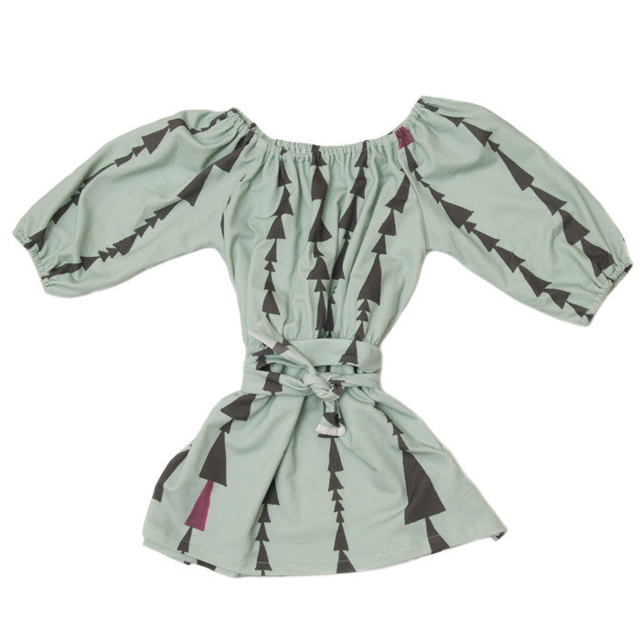 Girls dress Triangles by Perfect Days - green
