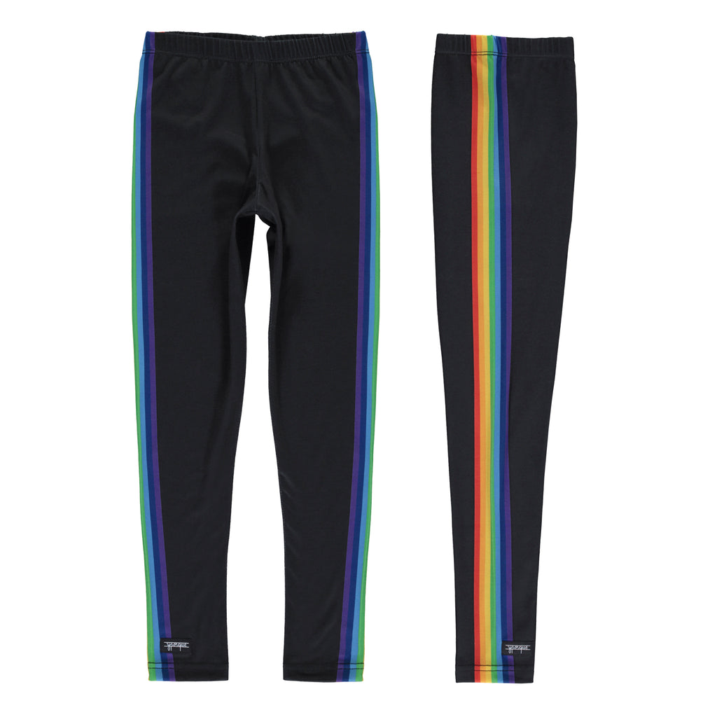 Rainbow Leggins Black