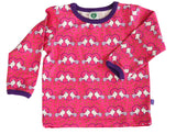 Småfolk: Pink baby tee with dove print | Fun baby clothes