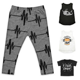 Sweet Luka Mo: BEAT Toddler Leggings grey - combo
