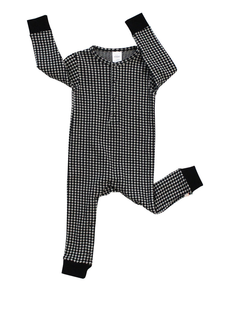 Tinycottons - Baby onepiece Easy houndstooth - beige-black