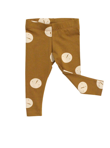 Baby pants Faces by Tinycottons - brown/beige