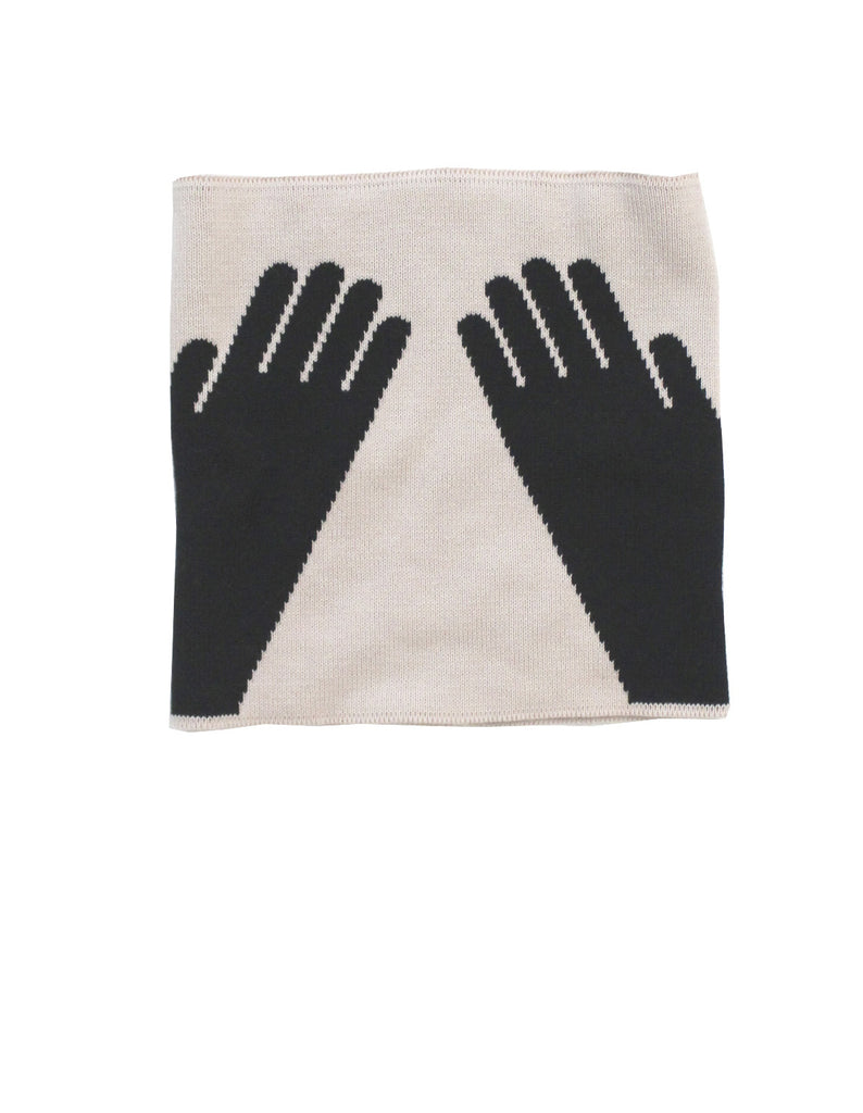 Tinycottons - Knitted buff Hands - beige-black
