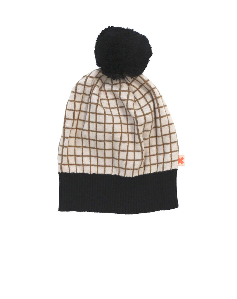 Tinycottons - Knitted grid beanie - beige