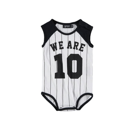 Baby Body 10 striped by Yporqué - black & white