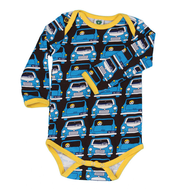 Småfolk: Funky baby boy body - Cars