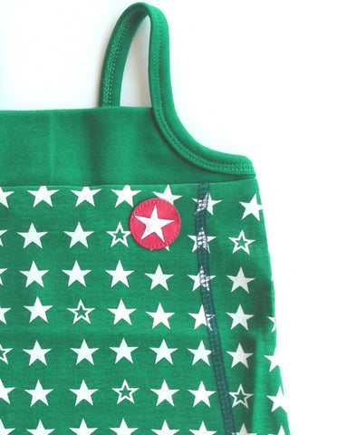 Star dress by KIK-KID, green