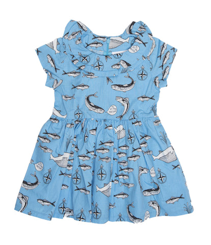 Baby dress by Småfolk - Ladybirds