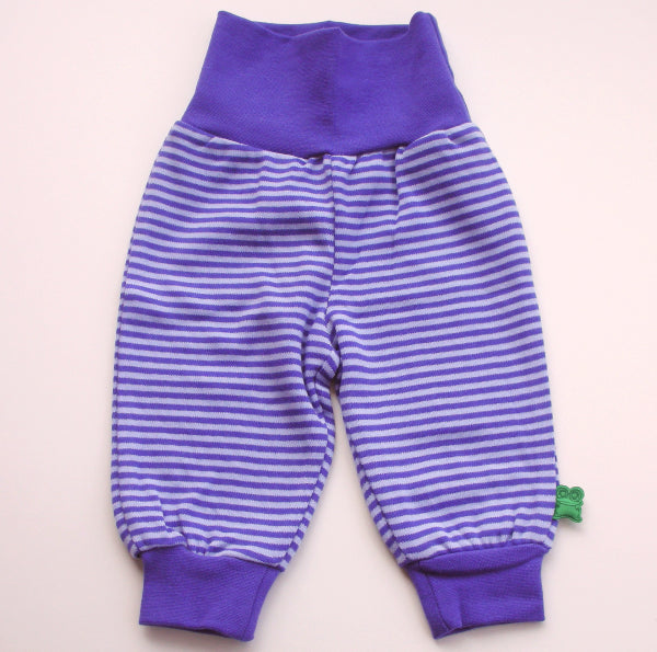 Purple organic baby pants by Green Cotton: Smilla