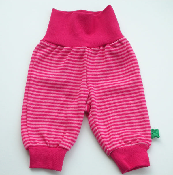 Pink organic baby pants by Green Cotton - Smilla