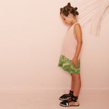 yporque - Bicolor dress Palms - kids fashion
